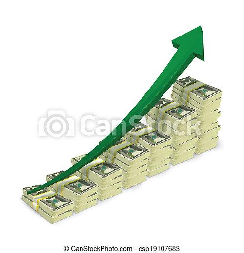 bankpapier, geld, opstand, opperen, grafiek - csp19107683