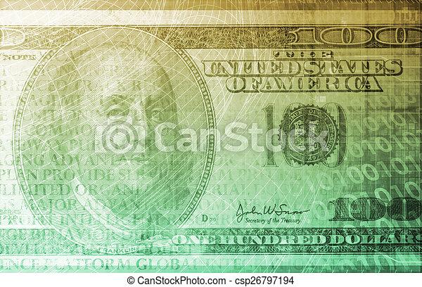 bankrörelse, digital - csp26797194