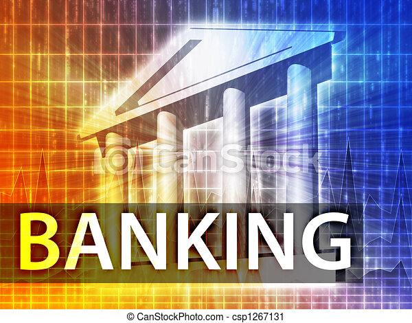 bankrörelse, illustration - csp1267131