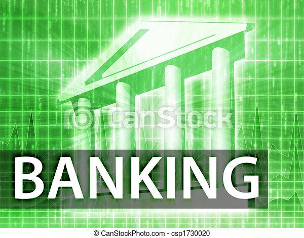 bankrörelse, illustration - csp1730020