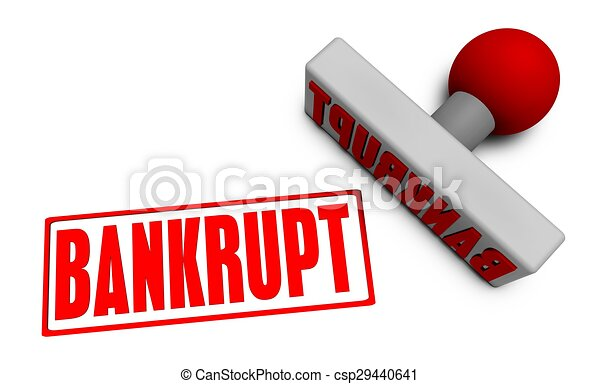 Bankrupt Stamp - csp29440641