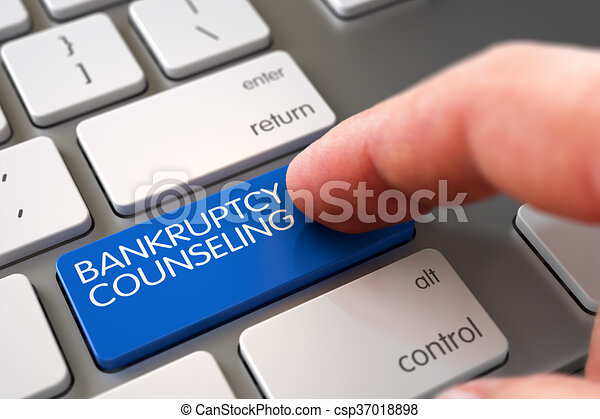 Bankruptcy Counseling - Modern Laptop Keyboard Concept. - csp37018898