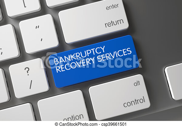 Bankruptcy Recovery Services Key. 3D Illustration. - csp39661501