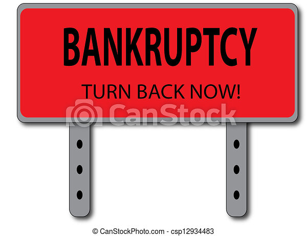 Bankruptcy Sign Concept - csp12934483