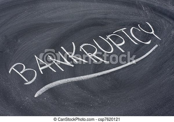 bankruptcy word on blackboard - csp7620121