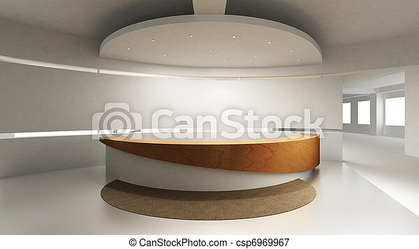 bankschalter, festempfang - csp6969967