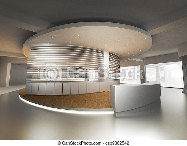 bankschalter, festempfang - csp9362542