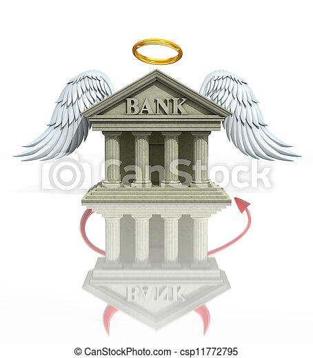 bankwesen, begriff, probleme, 3d - csp11772795
