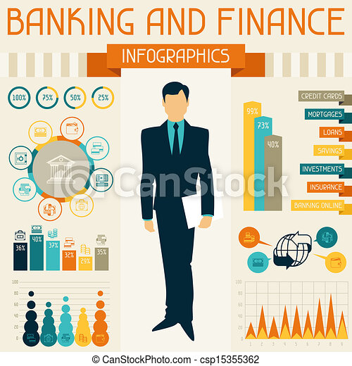 bankwesen, infographics., finanz - csp15355362