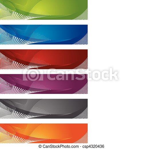 Die Wahl von Bannern in Halbton - csp4320436