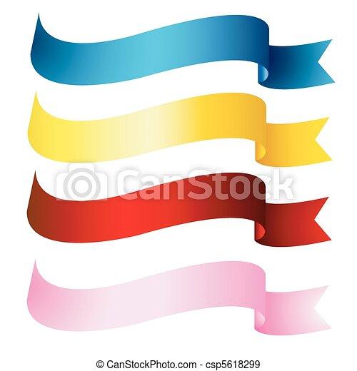 banner, bänder - csp5618299