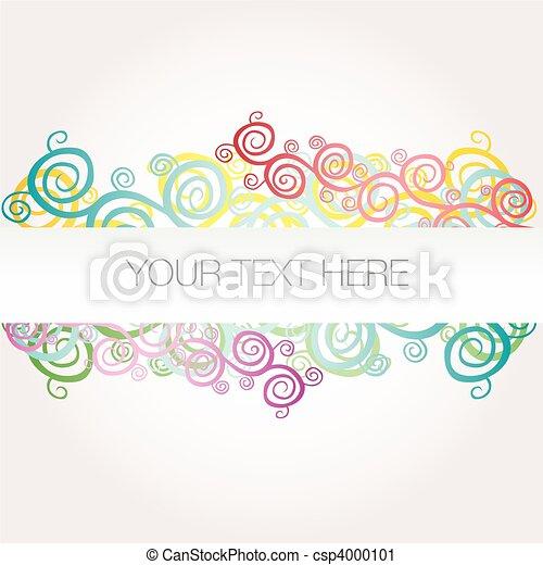Banner background arabesque vector  - csp4000101