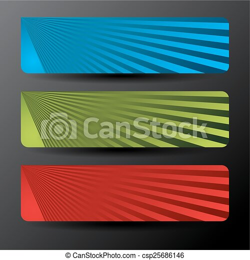 Banner Button Icon Set - csp25686146
