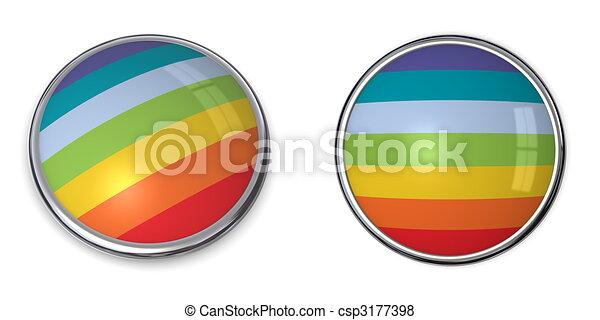 Banner Button Peace/Pace Flag - csp3177398