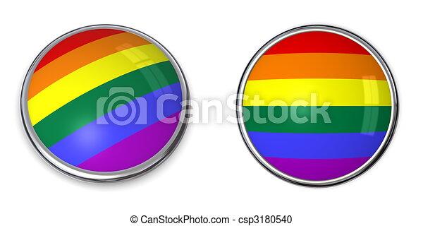 Banner Button Rainbow Flag - csp3180540