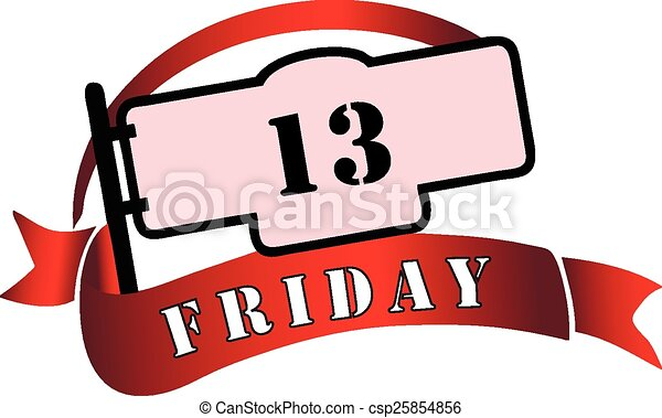 banner by friday the 13th a day tribulations vector clipart rh canstockphoto com friday the 13th clip art images friday the 13th mask clipart