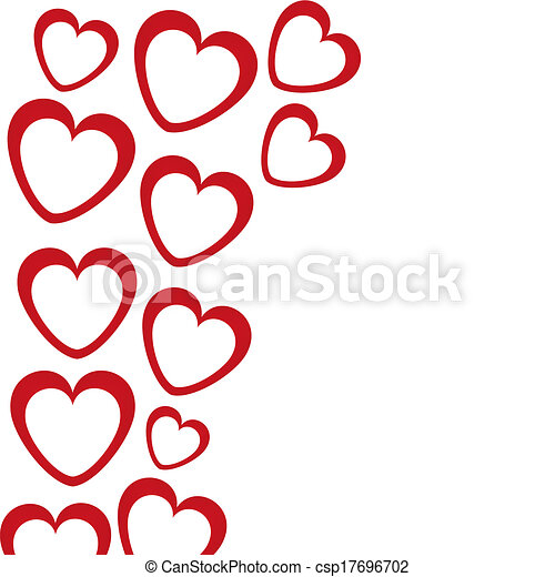 banner in the shape of heart  - csp17696702