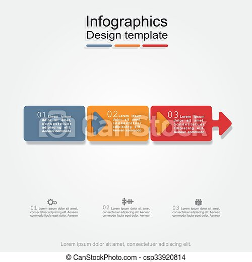 Banner infographic design template. Vector illustration - csp33920814