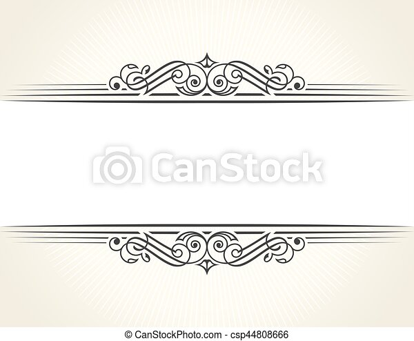 Banner islam ethnic design. white invitation vintage label frame ...