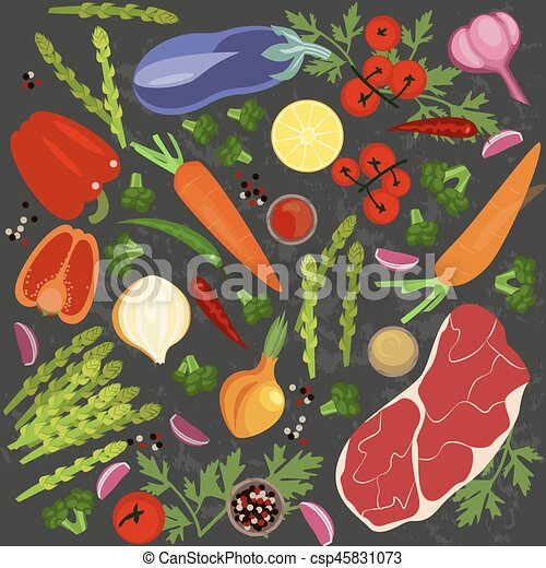 Banner of Raw food - csp45831073