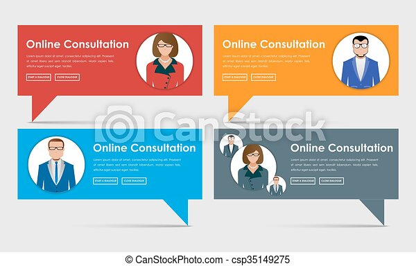 Banner Online Support And Advice Banner Design Online Consultation