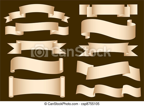 Banner Ribbon Scroll - csp8755105