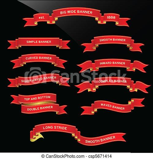 Banner Ribbon Scroll - csp5671414
