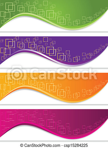 Banner set with geometric forms - csp15284225