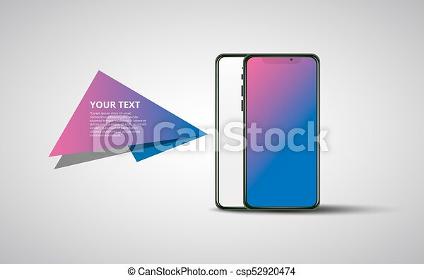 Banner Smartphone On Transparent Background Modern Concept For Web Banners Web Sites Infographics Creative Flat Design