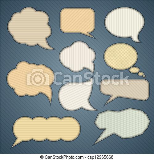 Banner & speech bubbles. - csp12365668