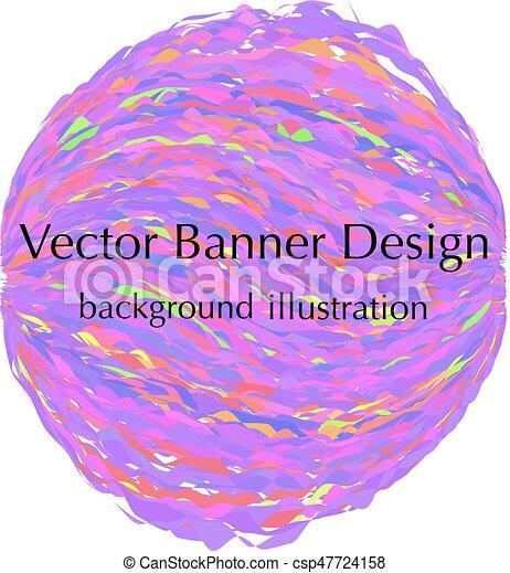 banner, sphere, konstruktion - csp47724158