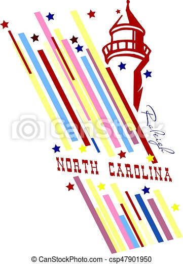 Banner State Of North Carolina Creative Banner With The Symbol Of