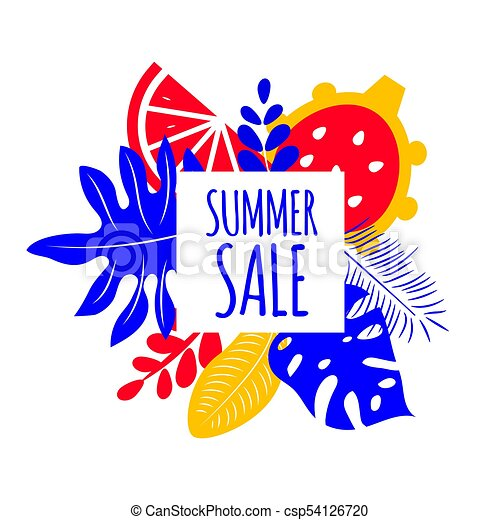 banner summer sale exotic tropical palm leaves monstera vector rh canstockphoto com sale victoria sale victoria's secret