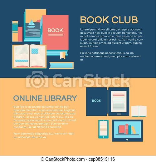 Banner Template With Books