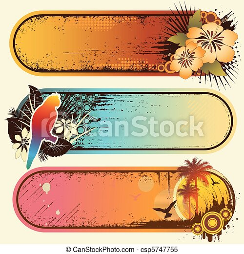 banner, tropische  - csp5747755