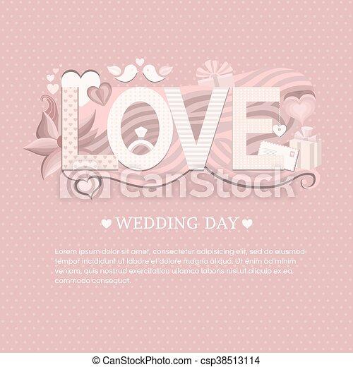 Banner wedding day. wedding invitation card. save the date card ...