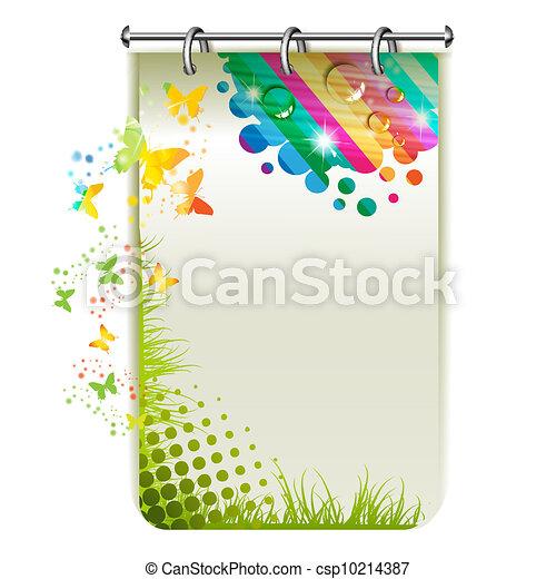 Banner with butterflies - csp10214387