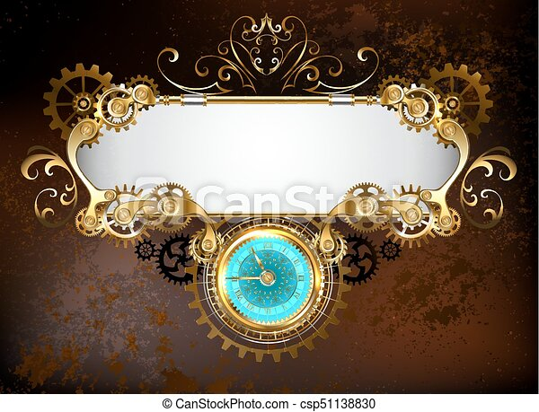 Banner with clock - csp51138830