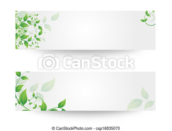 banner with flowers - csp16835070