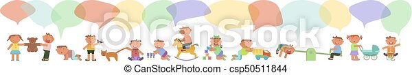 Banner with kids - csp50511844
