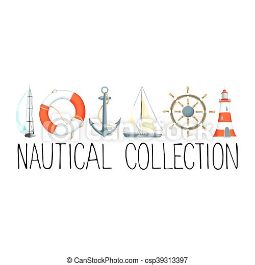Banner with nautical elements banner or headline with nautical banner with nautical elements csp39313397 maxwellsz
