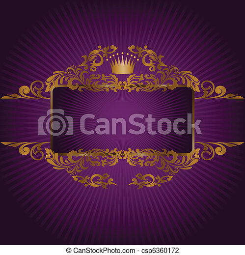 banner with the royal symbols - csp6360172