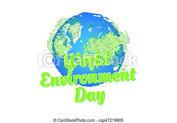 Banner World Environment Day With World Map
