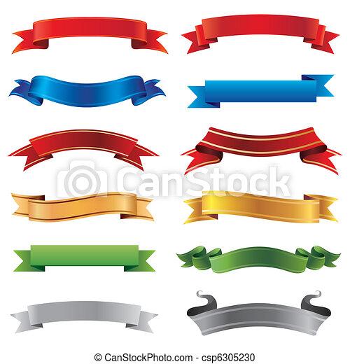 bannere, sæt - csp6305230