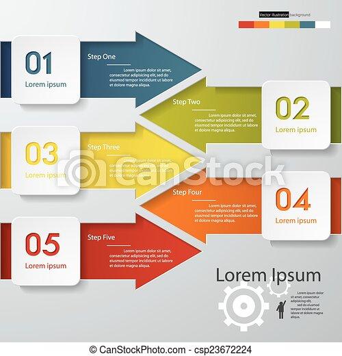 banners., ベクトル, デザイン, 数, きれいにしなさい - csp23672224