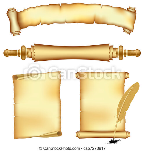 Banners and scroll papers - csp7273917