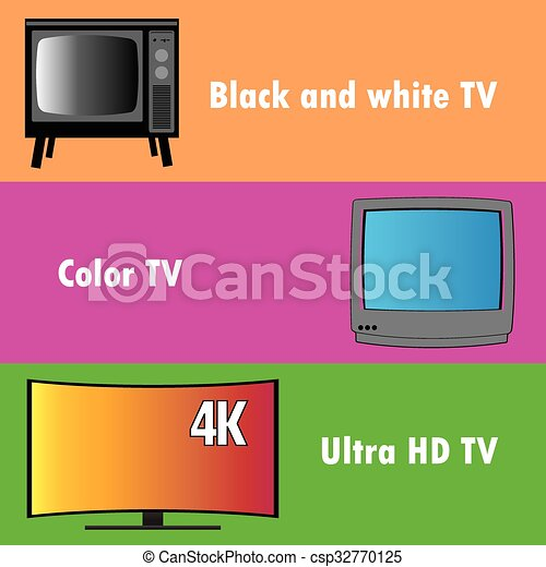 Banners or background, the evolution of television - csp32770125