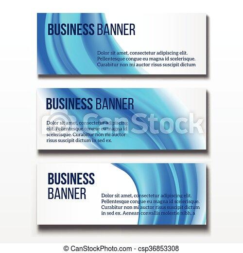 Banners set horizontal business banner templates banners vector banners set horizontal business banner templates csp36853308 flashek Choice Image