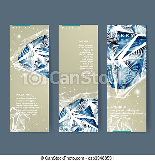 banners set with diamond element - csp33488531