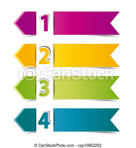 design template numbered banners vector illustration vector clipart rh canstockphoto ca banners vector free banners vector free